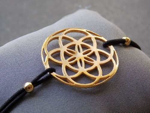 Elastisches Armband seed of life gold