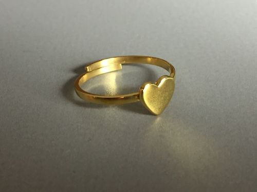 ring heart gold plated